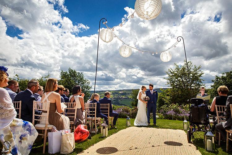 Outdoor Ceremony UK Outdoorsy Garden Rustic Tipi Wedding http://alexabbottphotography.co.uk/
