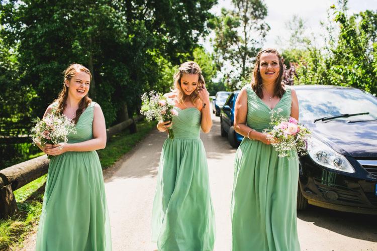 Long Green Bridesmaid Dresses Fun Festival Glamping Wedding https://storry.co.uk/