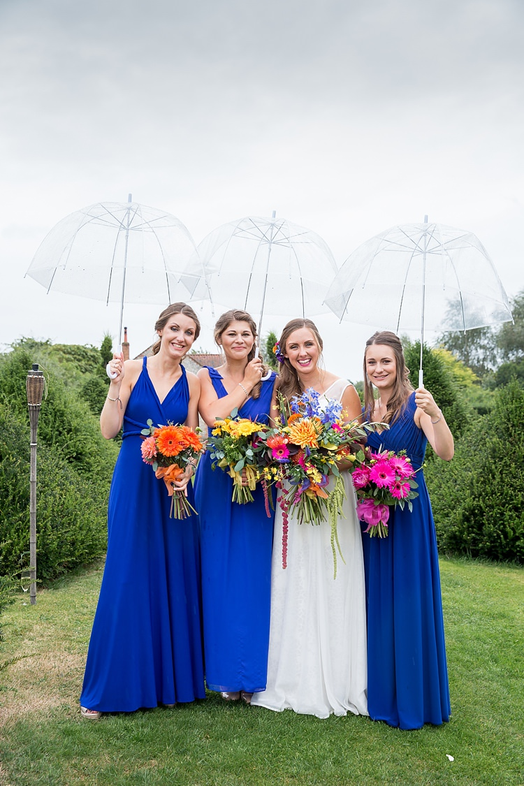 Long Blue Bridesmaid Dresses Mexican Inspired Colourful Cactus Wedding http://katherineashdown.co.uk/