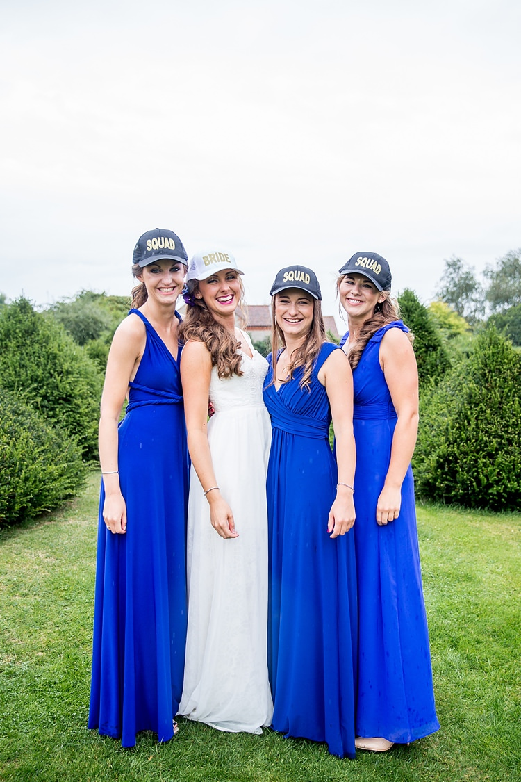 Bridesmaids Bride Squad Caps Hats Mexican Inspired Colourful Cactus Wedding http://katherineashdown.co.uk/