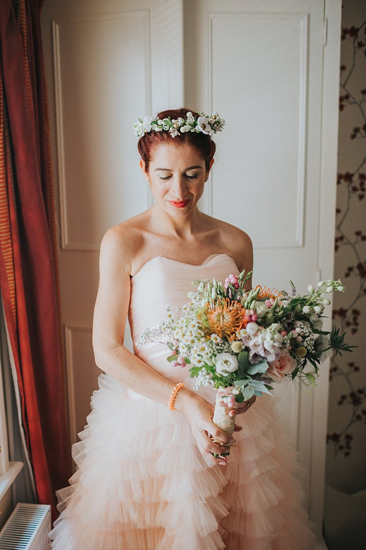 Make Up Bride Bridal Natural Pretty Whimsical Seaside Wedding Pale Pink Dress http://devlinphotos.co.uk/