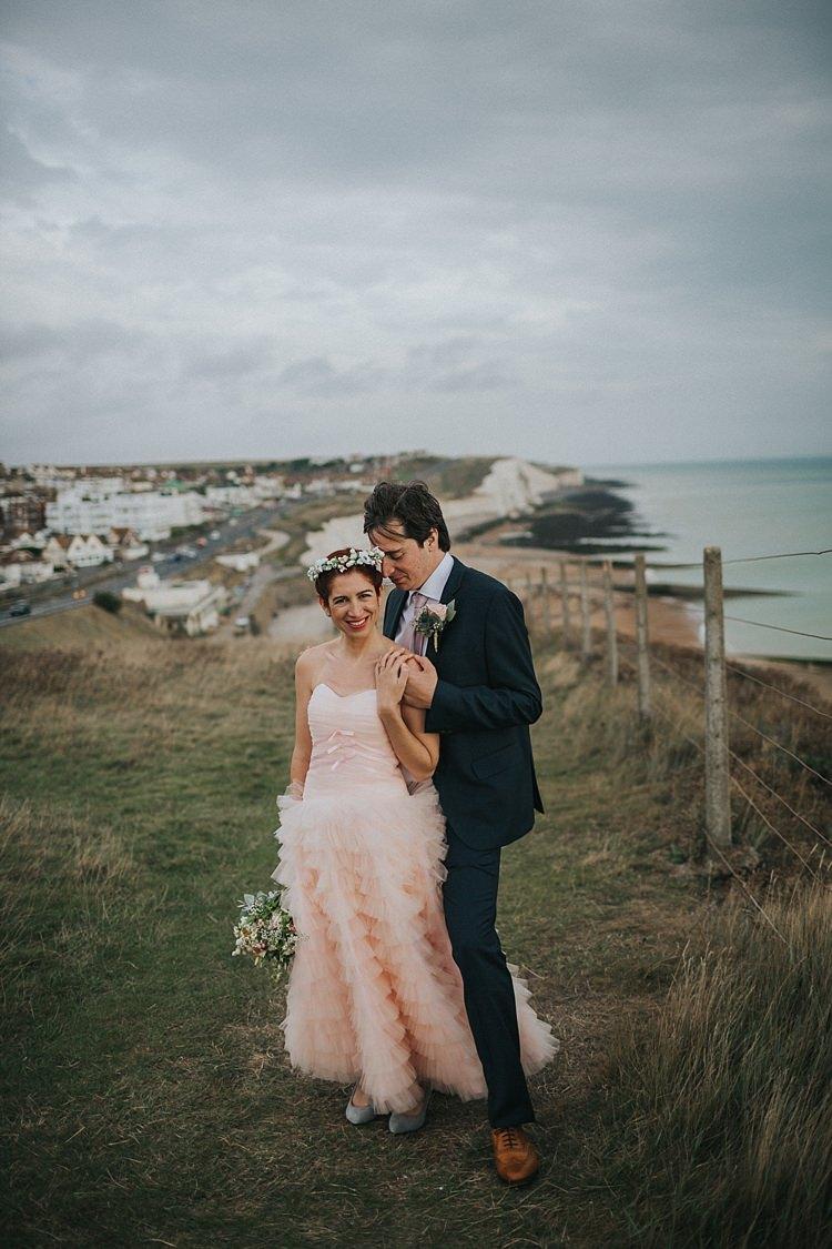Whimsical Seaside Wedding Pale Pink Dress http://devlinphotos.co.uk/