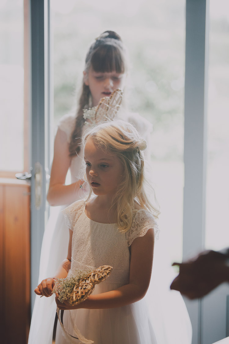 Flower Girls Heart Wand Chic Rustic Grey Barn Wedding http://www.kevelkinsphotography.co.uk/
