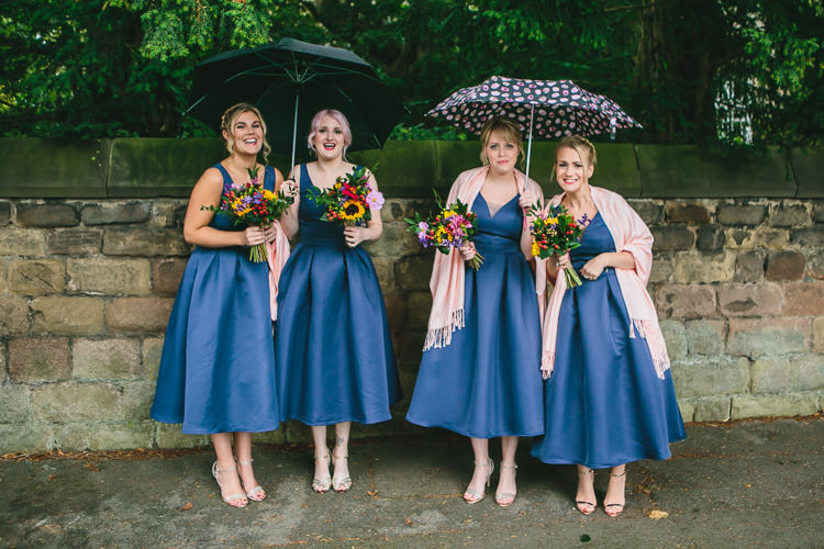 Chi Chi London Bridesmaids ASOS Umbrellas Relaxed Cosy Stylish Autumnal Wedding http://www.tierneyphotography.co.uk/