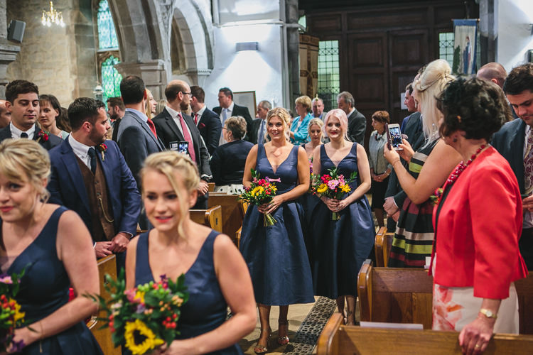 Church Chi Chi London Bridesmaids Colourful Bouquets Relaxed Cosy Stylish Autumnal Wedding http://www.tierneyphotography.co.uk/