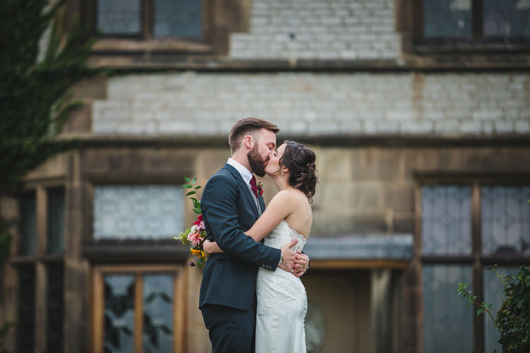 Blue by Enzoani Ted Baker Groom Harris Tweed Waistcoat Relaxed Cosy Stylish Autumnal Wedding http://www.tierneyphotography.co.uk/