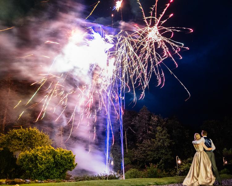Fireworks Relaxed Stylish Outdoor Wedding http://www.euanrobertsonweddings.com/
