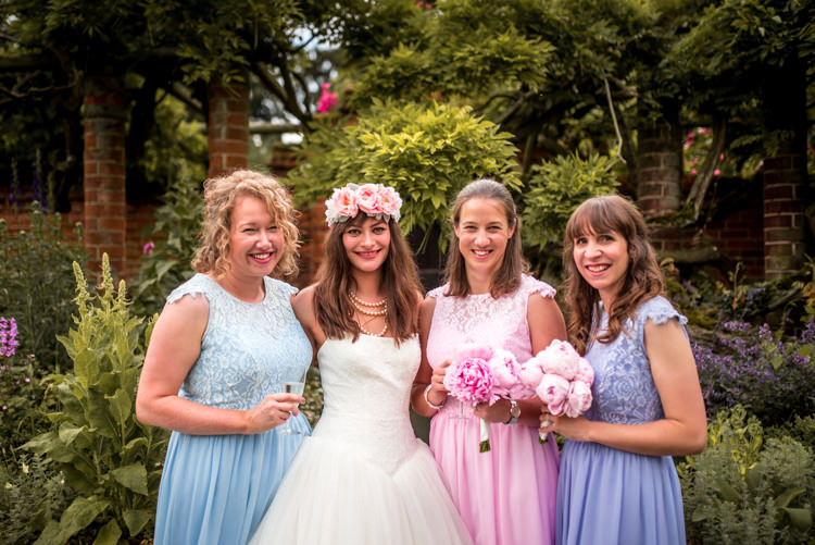 Pastel Bridesmaid Dresses Quirky English Garden Party Wedding http://www.michellewoodphotographer.com/