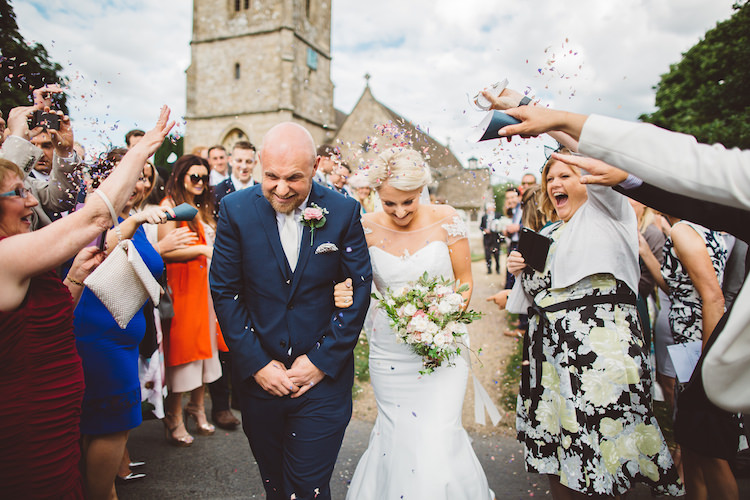 Confetti Throw Cotswolds Country House Marquee Wedding http://www.wearegatheredheretoday.com/