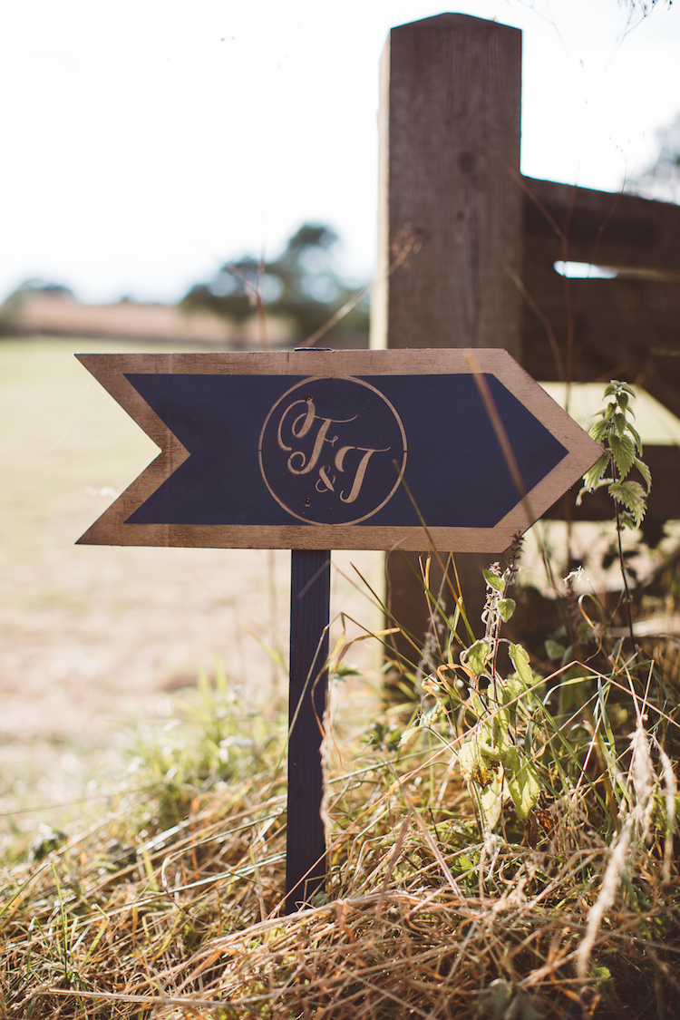 Direction Sign Wooden Post Logo Cotswolds Country House Marquee Wedding http://www.wearegatheredheretoday.com/
