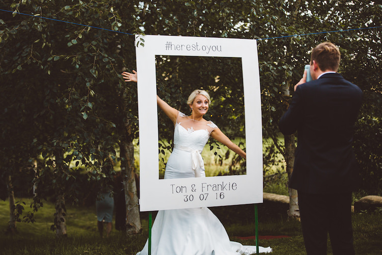 Photo Booth Frame Polariod Prop Cotswolds Country House Marquee Wedding http://www.wearegatheredheretoday.com/