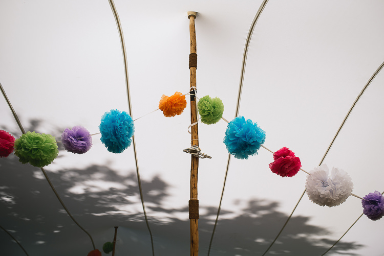 Colourful Pom Poms Relaxed Outdoor City Park Festival Wedding http://kristianlevenphotography.co.uk/