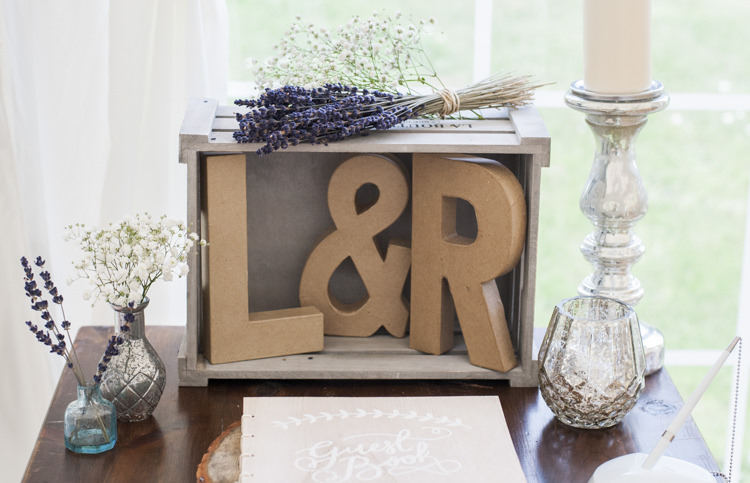 Guest Book Table Decor Whimsical Summery Lilac Wedding http://eleanorjaneweddings.co.uk/
