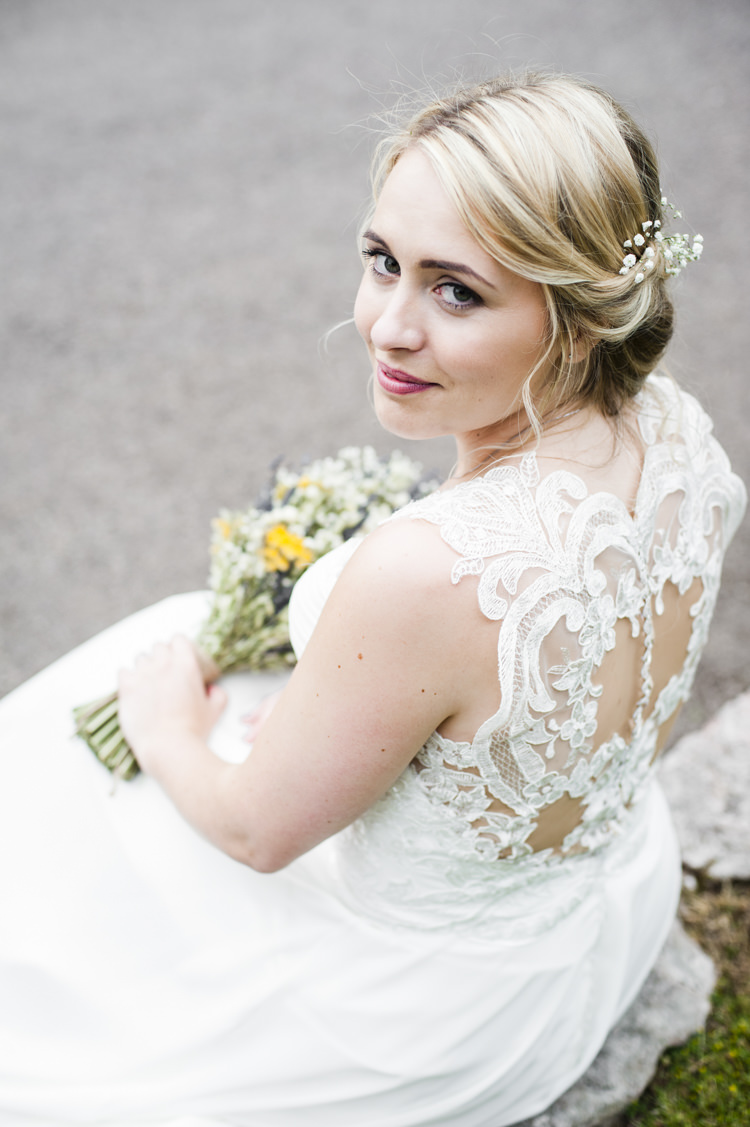 Illusion Back Dress Gown Bride Bridal Whimsical Summery Lilac Wedding http://eleanorjaneweddings.co.uk/
