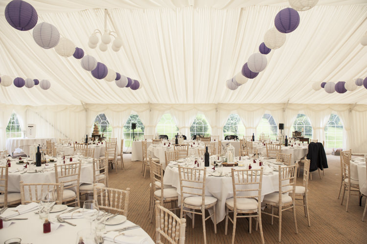 Lanterns Marquee Whimsical Summery Lilac Wedding http://eleanorjaneweddings.co.uk/