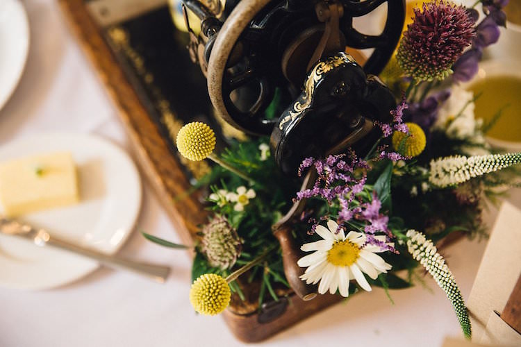 Sweet Quirky Yellow Antique Wedding https://www.redonblonde.com/