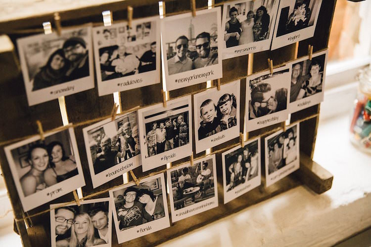 Photo Gallery Wall Decor Polaroid Sweet Quirky Yellow Antique Wedding https://www.redonblonde.com/