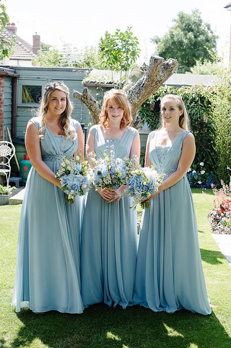 Lori Ella Coast Bridesmaids Pretty Pale Blue Summer Wedding http://www.georginabrewster.com/