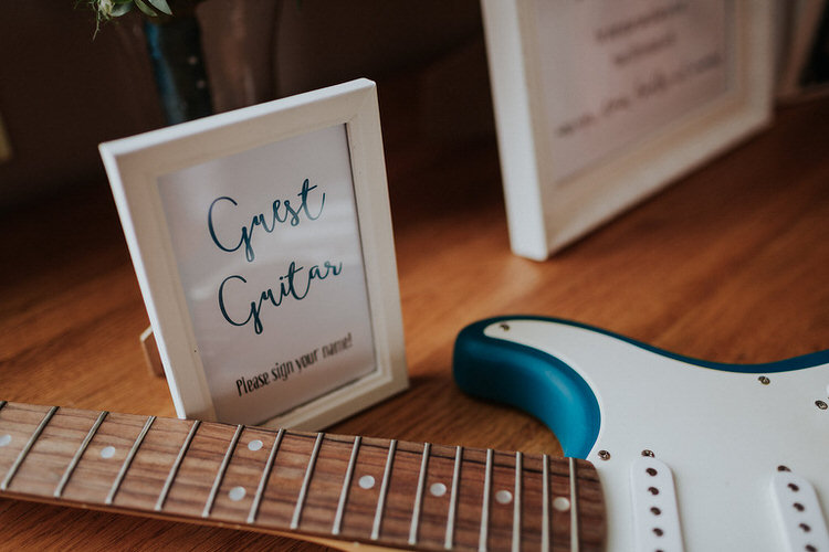 Guitar Guest Book Stylish Hand Made Rainy Summer Barn Wedding http://www.kategrayphotography.com/