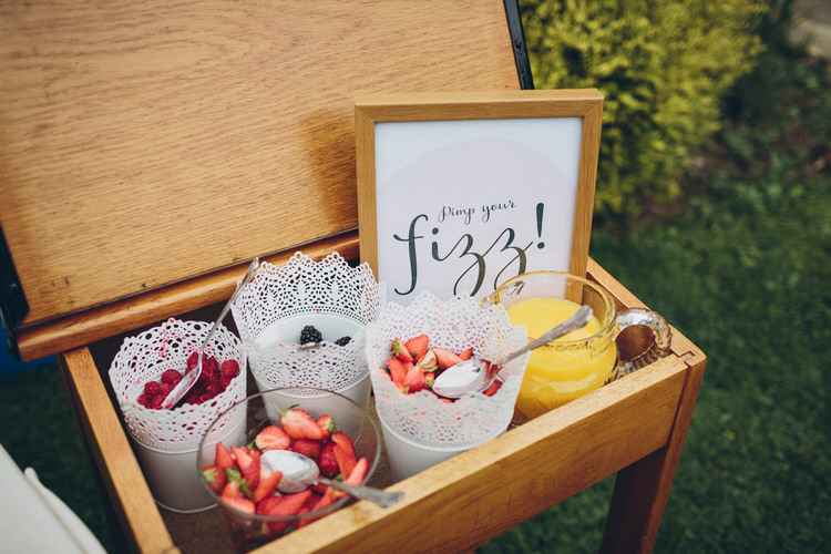 Details Prosecco Station Blush Navy DIY Tipi Wedding Home http://www.kategrayphotography.com/