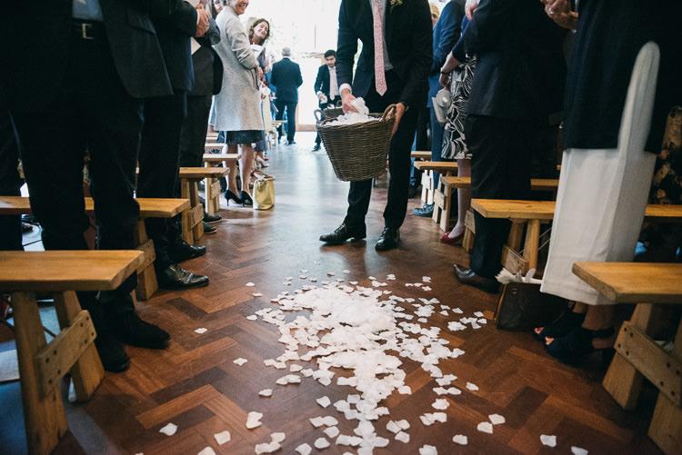 Petal Aisle Decor Creative Cool Bohemian Harbourside Wedding http://carohutchings.com/