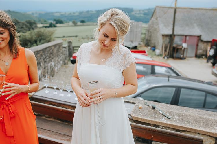 Bride Bridal French Connection Late Strapless Knee Length DIY Farm Weekend Long Wedding http://www.nestalloyd.co.uk/