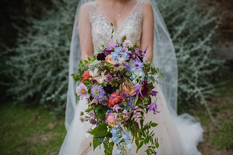 Large Bouquet Bride Bridal Flowers Colourful Sparkle Old Hollywood Glamour Wedding https://www.jonnybarratt.com/