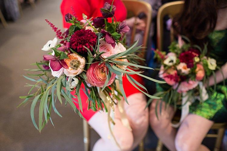 Bridesmaid Bouquet Red Pink Flowers Fun Spring Floral Creative Wedding https://www.binkynixon.com/