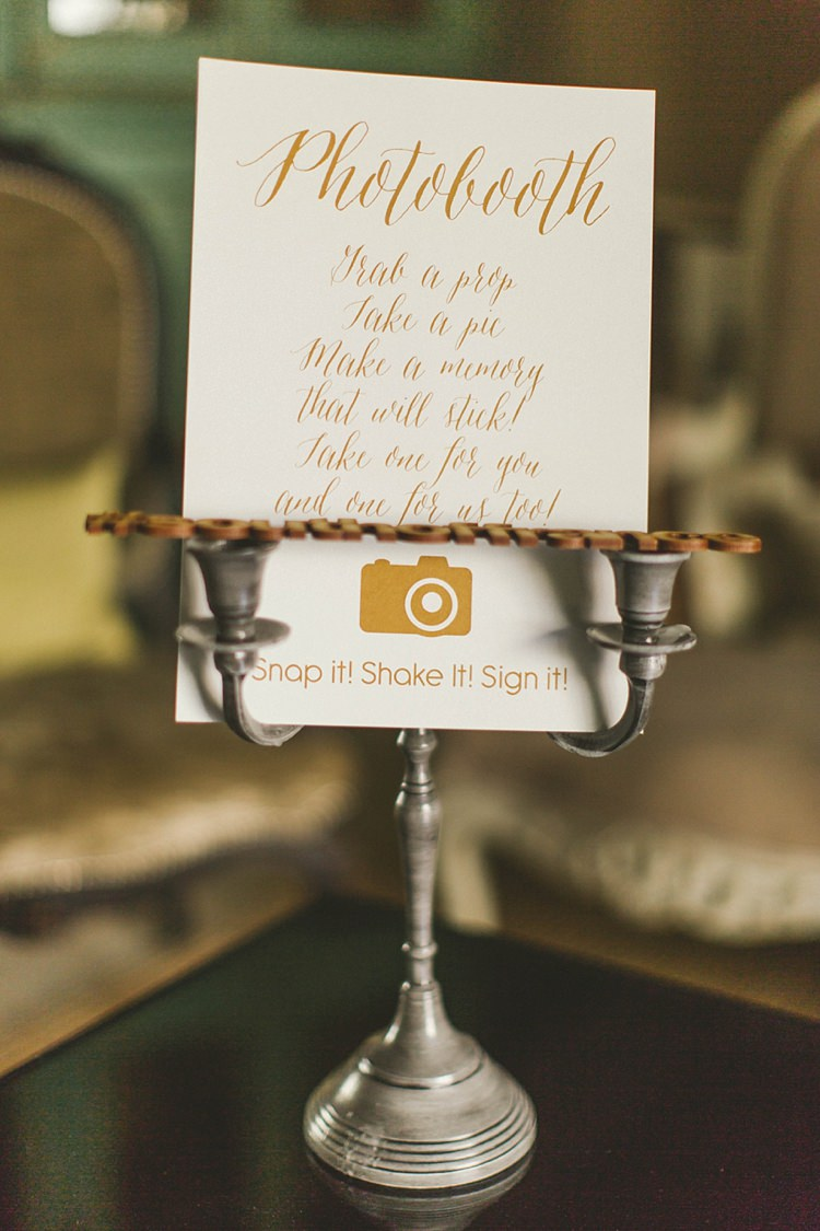 Photo booth Signage Candlestick Selfie Natural Romantic Chateau Destination Wedding South of France http://www.jayrowden.com/
