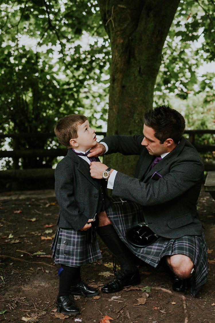 Kilt Groom Page Boy Creative Woodland Mad Hatters Tea Party Wedding https://www.clairefleckphotography.com/