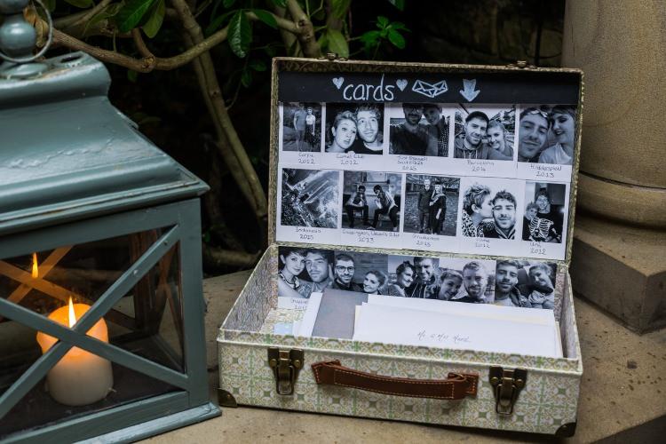 Cards Suitcase Trunk Vintage Detail Decor Pretty Quirky Pastel Wedding http://www.happilyevercaptured.com/