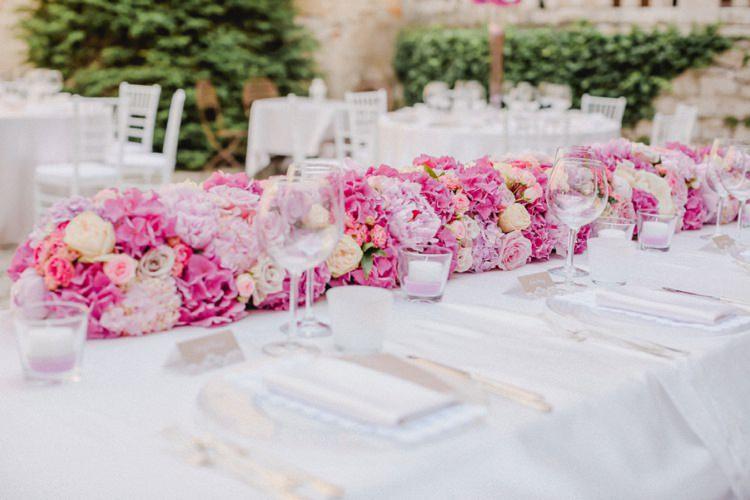 Centrepiece Table Decoration Flowers Romantic Vibrant Pink Wedding Trieste http://www.emotionttl.com/en/home/