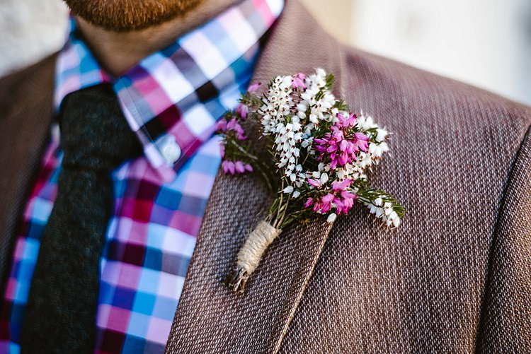 Pink White Buttonhole Groom Beautiful Countryside Wedding Ideas Inspiration http://www.georginabrewster.com/