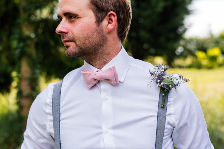 Bow Tie Braces Groom Fun Loving Secret Garden Tipi Wedding https://www.aaroncollettphotography.co.uk/