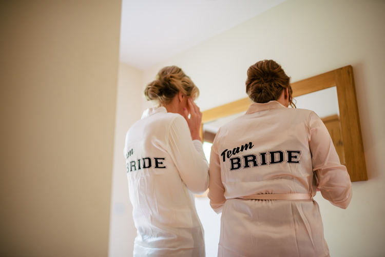 Bride Bridesmaid Dressing Gowns Industrial Glam Marquee Wedding http://www.stottandatkinson.com/