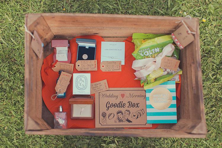 Bride Bridal Gift Goodies Box Whimsical Countryside Yurt Wedding http://jamesgreenphotographer.co.uk/