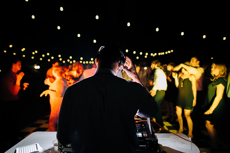 DJ Party Dancing Festoon Lighting Bohemian Outdoor Greenery Wedding Georgia http://www.sowingclover.com/