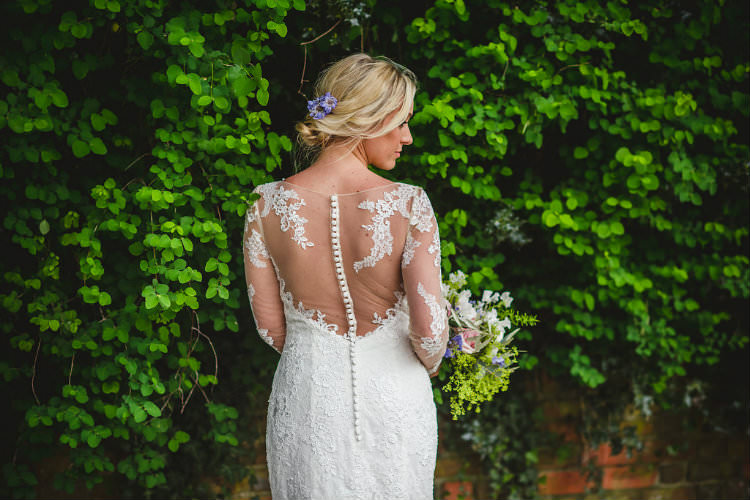Ellis Bridal Long Lace Sleeves Dress Bride Bridal Gown Illusion Back Buttons Garden of Hygge Wedding Ideas http://www.sophieduckworthphotography.com/