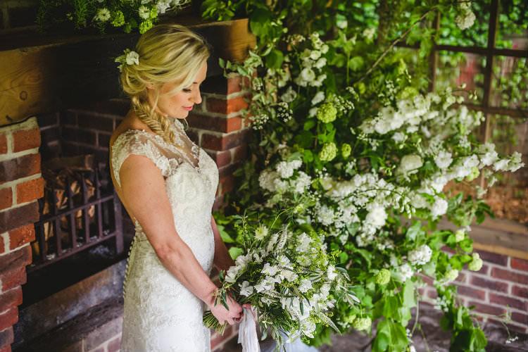 Greenery Bouquet Foliage Flowers Bride Bridal Ribbons Garden of Hygge Wedding Ideas http://www.sophieduckworthphotography.com/
