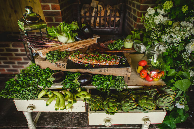 Food Catering Table Decor Meal Buffet Garden of Hygge Wedding Ideas http://www.sophieduckworthphotography.com/