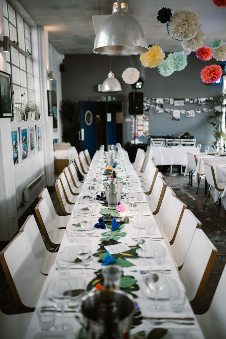 Topical Art Deco Decor Laid Back Local London Lido Wedding http://andrewbrannanphotography.co.uk/
