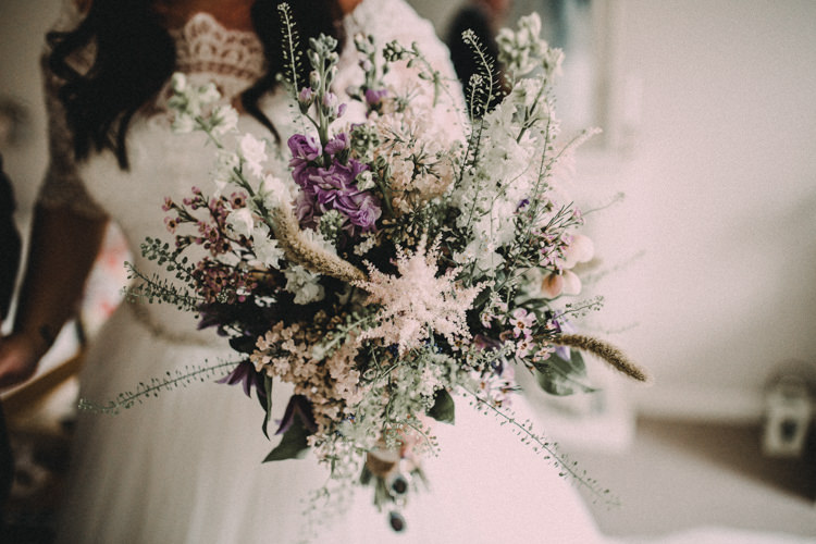 Bouquet Flowers Astilbe Bride Bridal Stocks Woodland Lavender Spring Country Wedding http://www.carlablainphotography.co.uk/