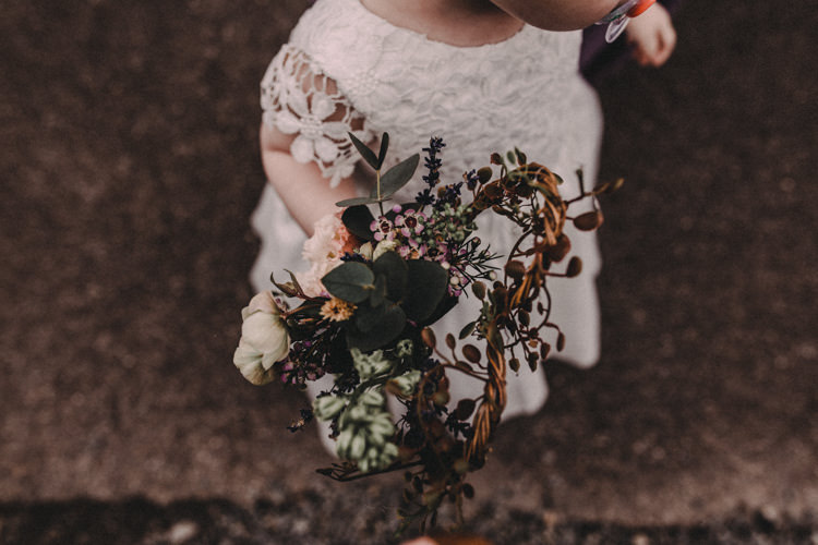 Flower Girl Bouquet Flowers Woodland Lavender Spring Country Wedding http://www.carlablainphotography.co.uk/