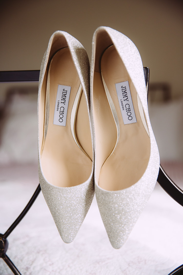 White Glitter Jimmy Choo Bride Bridal Shoes Romantic Soft Pastel Pretty Wedding http://hayleybaxterphotography.com/