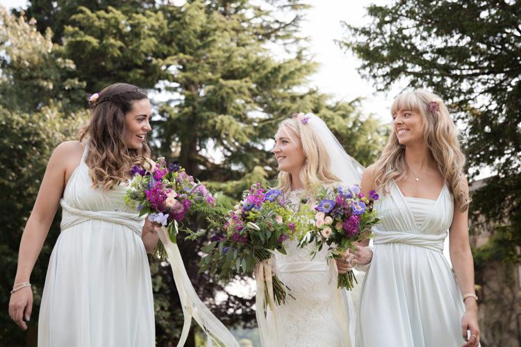 Pastel Multiway Bridesmaid Dresses Flowers Bouquet Summer Festival Country Estate Wedding http://kerryannduffy.com/
