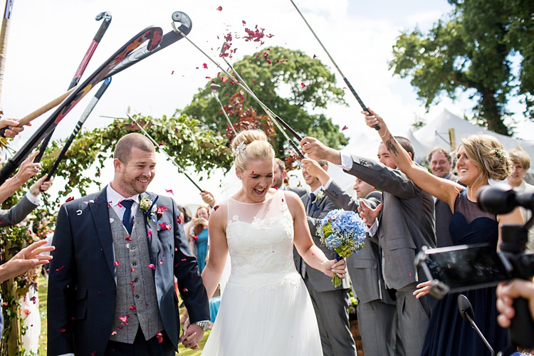 Hockey Sticks Confetti Throw Country Rustic Picnic Marquee Wedding https://www.binkynixon.com/