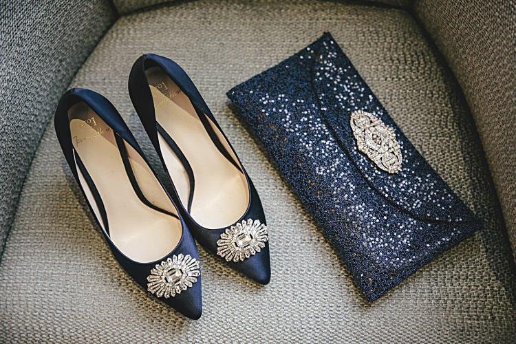 Royal Blue Navy Shoes Clutch Bride Bridal Colourful Home Made Vintage City Wedding http://kat-hill.com/