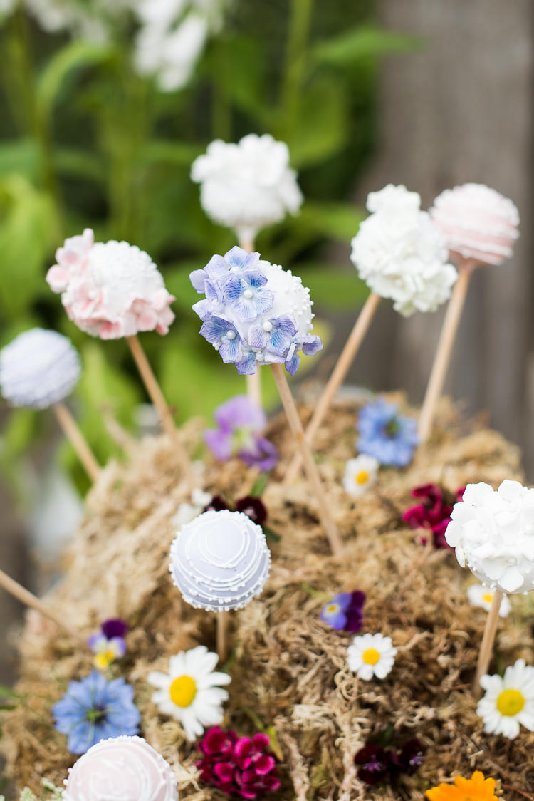 Cake Pops Moss Daisies Dessert Display Table Pretty Urban Nature Wedding Ideas http://www.fionasweddingphotography.co.uk/