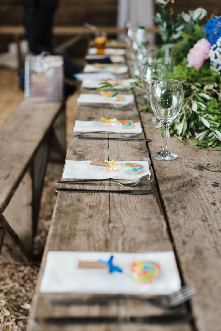 Long Wooden Tables Decor Whimsical Wedding Sea Rustic Barn http://sugarbirdphoto.co.uk/