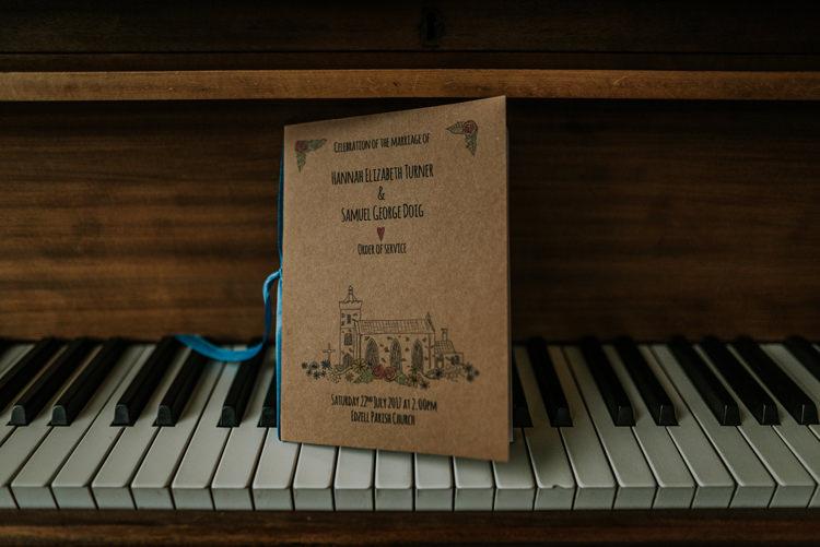 Kraft Paper Stationery Order Service Enchanting Cornflower Blue Marquee Wedding https://burfly.co.uk/